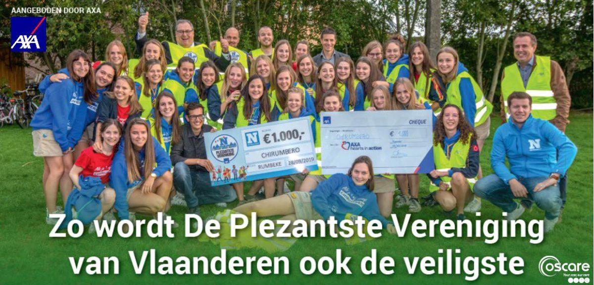 Plezantste Vereniging van Vlaanderen ook  brandveiligste