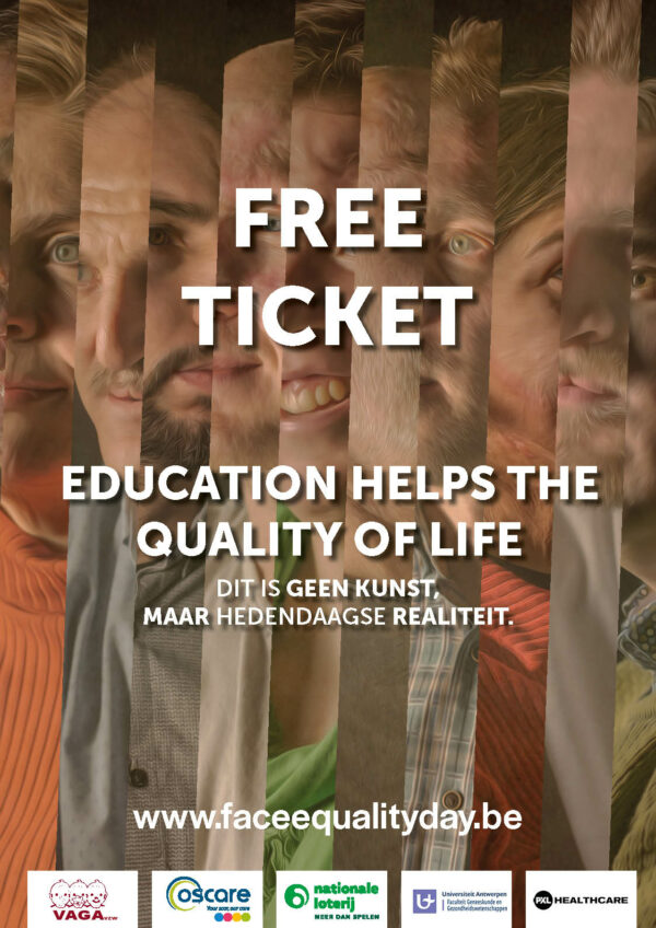 face equality day banner education helps the quality of life free ticket